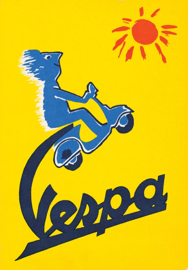 Poster  Vespa Savignac 1955