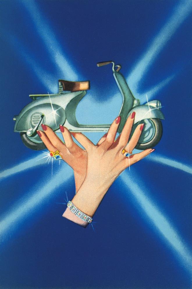 Brochure Cover Vespa Jewells-Depliant Vespa Gioielli 1949