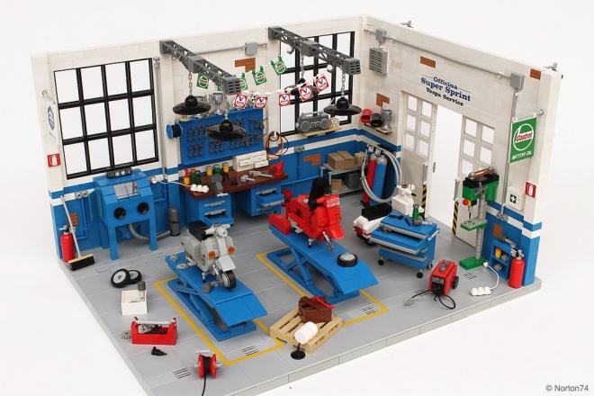 Officina Super Sprint Lego 01